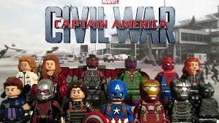 Lego Captain America: Civil War - Custom Minifigure Showcase - By TheWolfpack