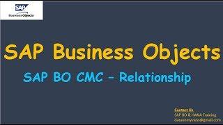 العلاقة - SAP بو CMC | SAP بو مشرف