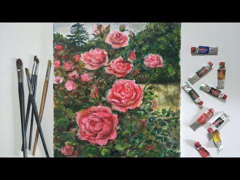 Cách vẽ hoa hồng đẹp bằng sơn dầu