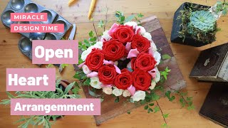 HOW TO MAKE YOUR OWN VALENTINE`S HEART FLORAL ARRANGEMENT