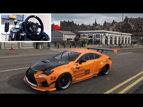 Best Drift Tune for the NEW Lexus RC F! - Forza Horizon 4 (Drifting w/Steering Wheel)