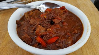 Brisket Chili On the Weber Grill  Cold Weather Recipe