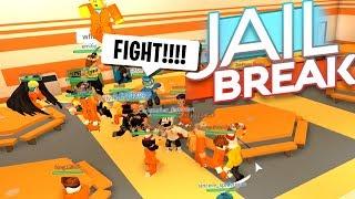 PRISON FIGHT BREAKOUT!!! (Roblox Jailbreak)