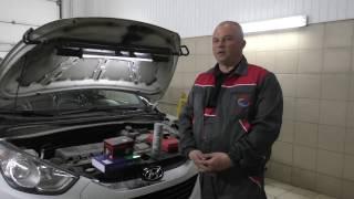 Hyundai IX35 ошибка P0106. Очистка дросселя, датчика. Замена фильтров.