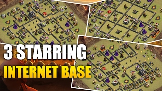 TH9 War Attack | 3 Starring Famous War Base | Clash Of Clans