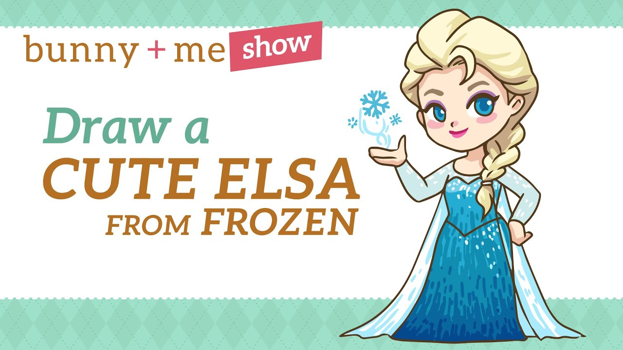 How to draw Elsa - Easy Drawing Tutorial from Frozen - YouTube