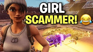 Angry RICH GIRL! Tried to SCAM me! 😱🤣 (Scammer Get Scammed) Fortnite Save The World