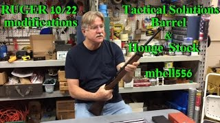 Ruger 10/22 Mods: Tactical Solutions Barrel & Hogue Overmolded Stock thumbnail