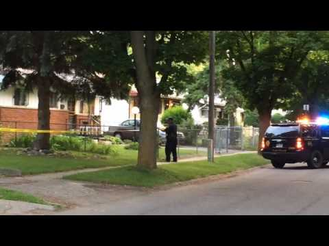 Watch police investigate deadly shooting in Flint
