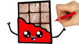 HOW TO DRAW CHOCOLATE / como desenhar chocolate/ como dibujar chocolate