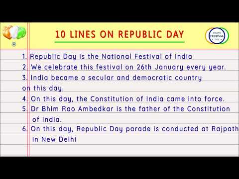 26 January 10 Lines | Essay on Indian Republic Day