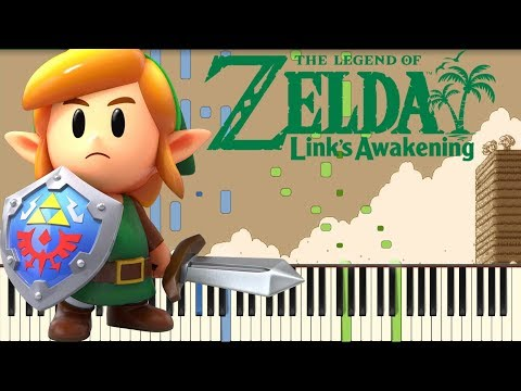 The Legend Of Zelda: Link's Awakening - Ballad Of The Wind Fish [Piano Tutorial] (Synthesia)