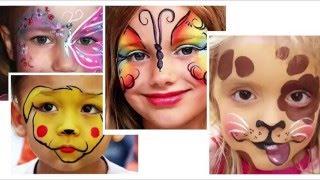 KIDS BABY аквагрим деткам  Человек паук и Тигренок! Развлечения для детей