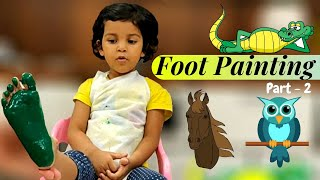 Easy Foot Painting Ideas | Foot Painting Ideas for Toddlers | Alligator | Owl | Horse | PART-2