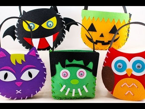 Felt Craft How To Sew Frankenstein Candy Trick Or Treat Bag For You