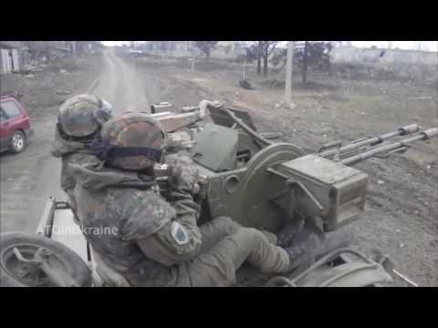 War | Ukraine War. Ukrainian Paramilitary in Heavy Combat Helmet Cam Firefight and Clashes