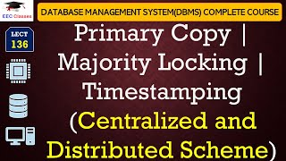 Primary Copy | Majority Locking | Timestamping (Centralized and Distributed Scheme)