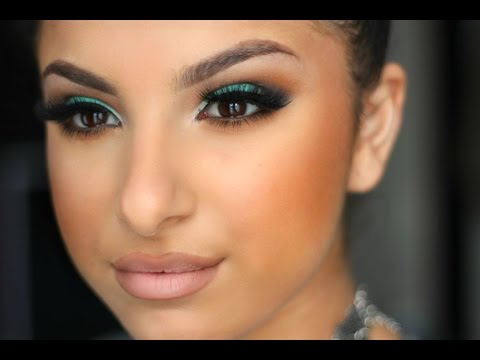 Teal & Warm Brown Makeup Tutorial   Makeup By Leyla