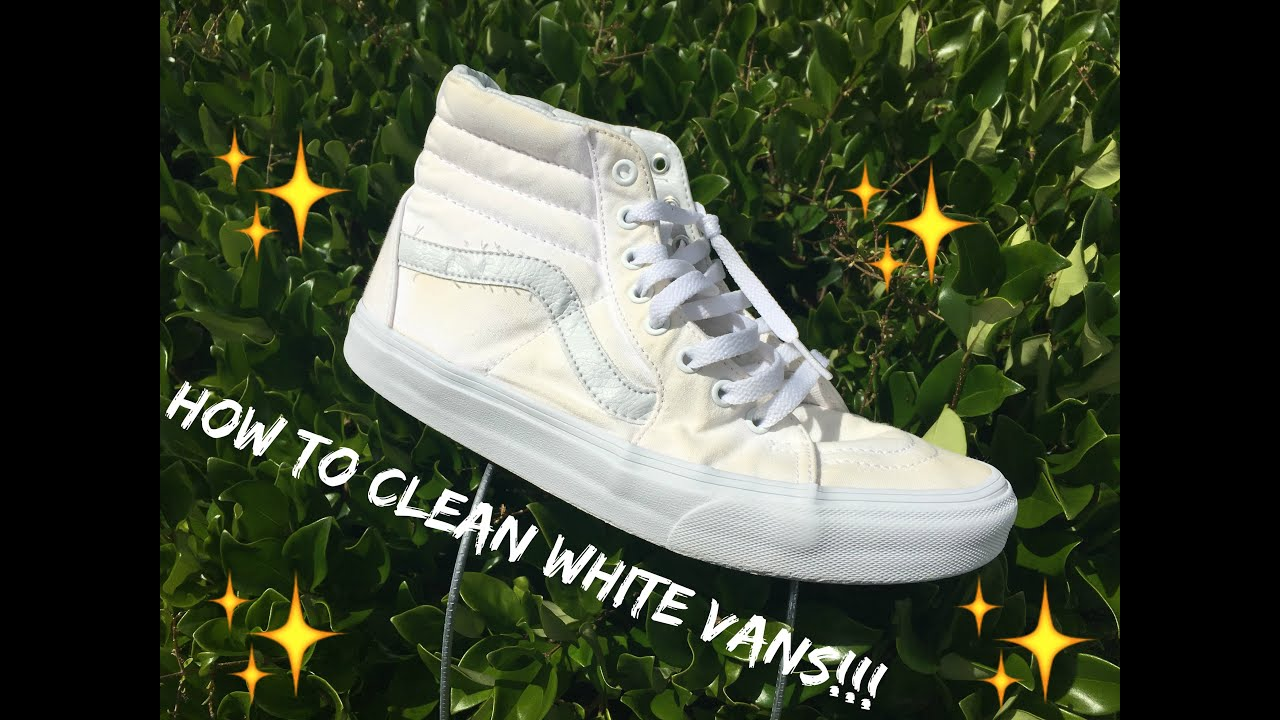 135fe7e1bb00 HOW TO CLEAN WHITE VANS TUTORIAL!!! - YouTube