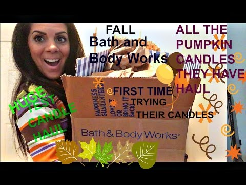 HUGE BATH & BODY WORKS HAUL-FALL 2016 TEST CANDLE HAUL-FIRST TIME TRYING BATH AND BODY CANDLES
