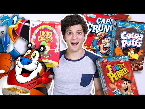 HEALTH FREAK Tries Kids' Cereals for FIRST TIME