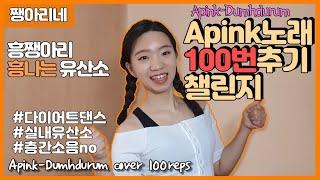 다이어트 댄스 에이핑크 노래 100번 추기 챌린지 I Apink-Dumhdurum dancecover 100…