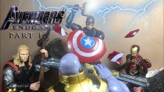 Avengers Endgame: Part 1 Big Three vs Thanos  Stop-motion