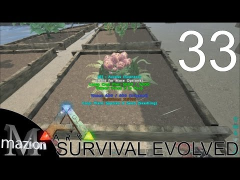 ARK: Survival Evolved - Troughs! More poop! Plant Species X! E33 Gameplay