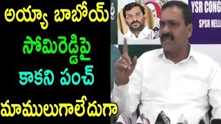 సోమిరెడ్డిపై కాకని పంచ్ Kakani Govardhan Reddy Powerful Punches on Somireddy | Cinema Politics