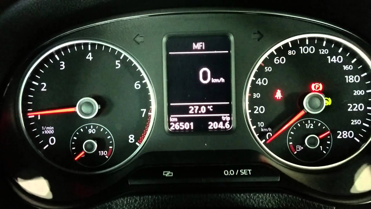 oil pressure  engine off  warning on polo gti 6r