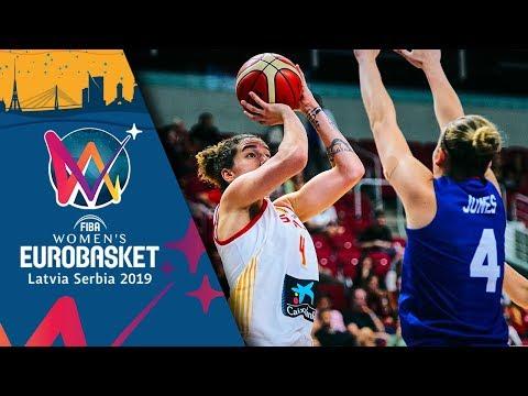 Spain v Great Britain - Highlights - FIBA Women's EuroBasket 2019