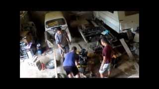4L (9) : Dépose moteur et caisse