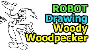 How to draw Woody Woodpecker quick & easy (Drawing & Cartoon for kids)
