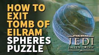 How to Exit Tomb of Eilram Star Wars Jedi Fallen Order (Zeffo Spheres Puzzle)