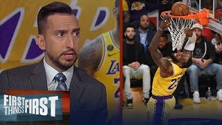 LeBron had his best offensive game of the year vs. Zion — Nick Wright | NBA | FIRST THINGS FIRST