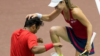 Leander Paes & Martina Hingis 7/14/14 Mixed Doubles Highlights thumbnail