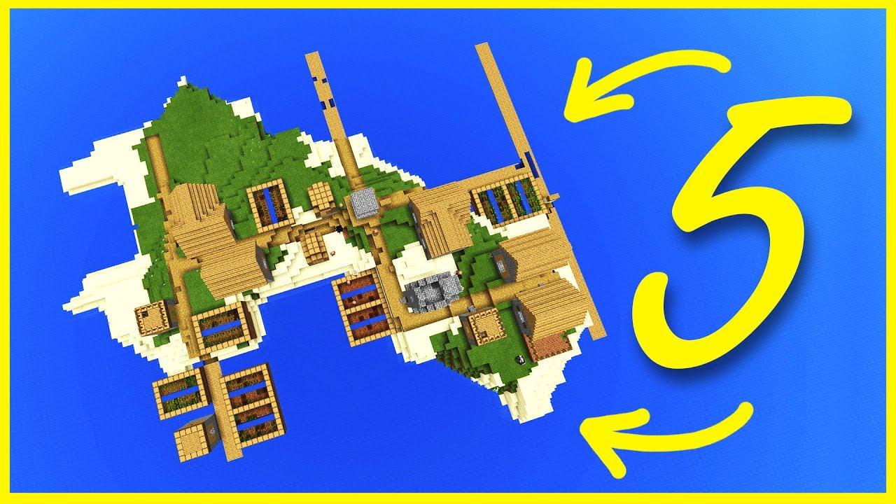 Minecraft PE Seeds - TOP 5 Best SURVIVAL ISLAND Seeds - MCPE 1 2 / W10 /  Xbox