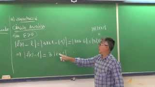 Calculo I: EJEMPLO 1 de limite por definición de Epsilon y Delta