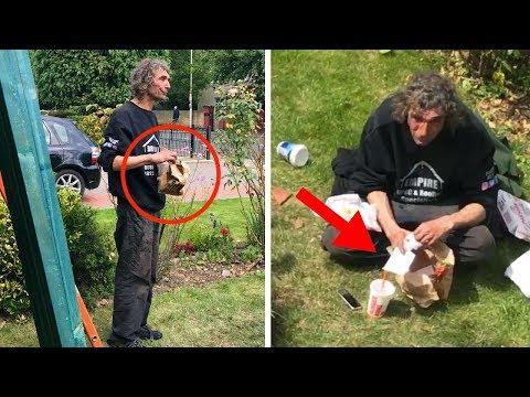 Dachdecker boten obdachlosem Mann Arbeit an, schaut was passiert ist!