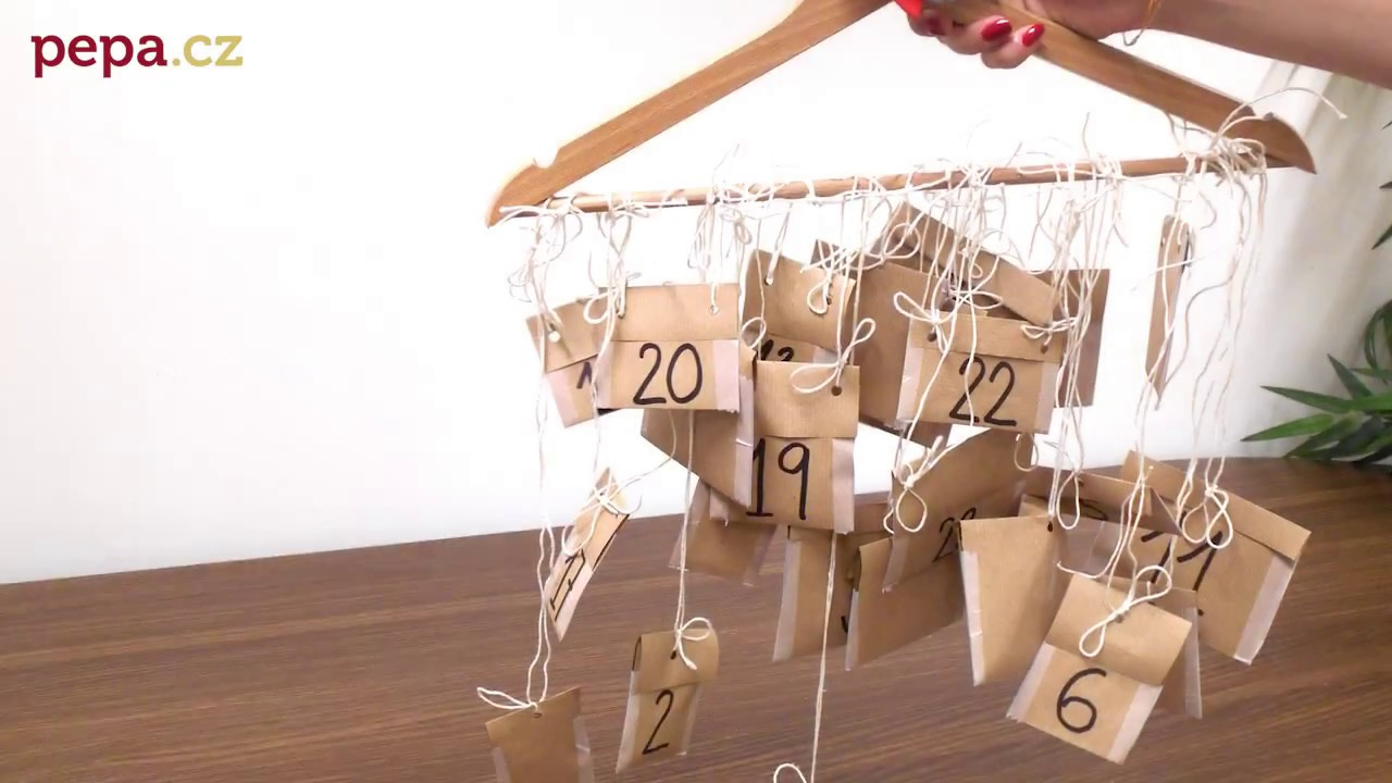 adventni kalendar diy DIY Adventní kalendář   ramínko   YouTube adventni kalendar diy