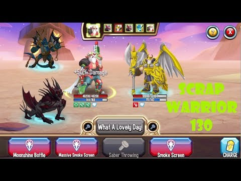 Monster Legends : Scrap.Warrior level 1-130 review combat PVP