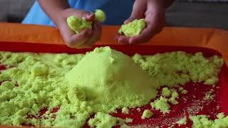 KINETIC SAND PARTY!!! Sofi playing with kinetic sand