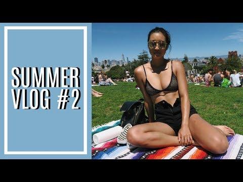 SUMMER VLOG #2 | Camping, Tanning, & Late Night Shenanigans