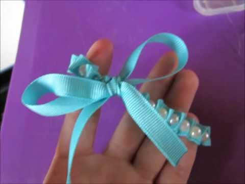Ribbon and Pearl Bow Bracelet