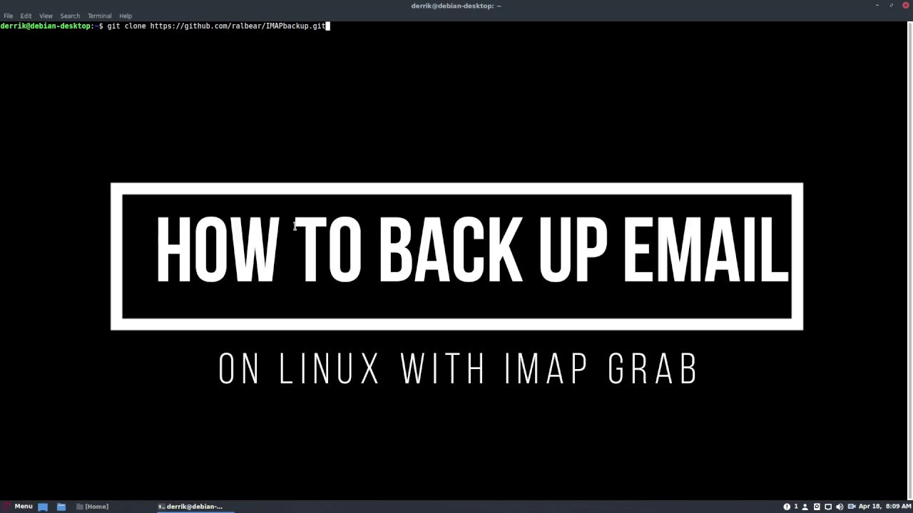 How To Back Up Email On Linux With IMAP Grab