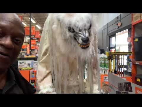 Tall Werewolf At Home Depot Fayettville GA Ready For Halloween