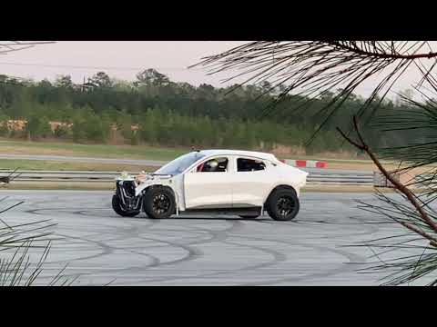 Secret electric vehicle testin?