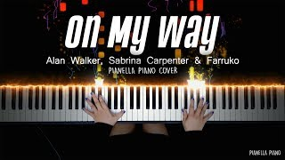 On My Way - Alan Walker, Sabrina Carpenter & Farruko | Piano Cover by Pianella Piano