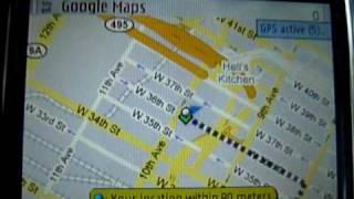 New York City, Nokia E71 GPS, AT&T 3G & Google Maps  = SIMPLE :)