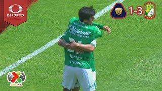 León termina racha de Pumas como local |  Pumas 1 - 3 León | Clausura 2019 - J 8 | Televisa Deportes